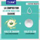 Organic hemp oil with CBD 15% 10 ml bottle | HEXA3