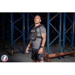 Veste lestée à 12 kg plaques courbée - courbée | LEVEL ADDICT