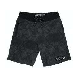 Men's black and grey GRANITE shorts   ROKFIT