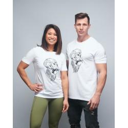 T-shirt unisexe blanc GORILLA OPS   VERY BAD WOD x WILL LENNART TATOO