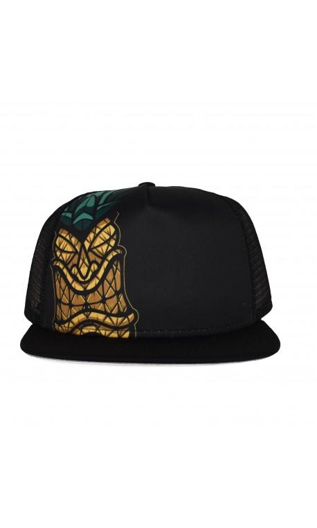 Black PINEAPPLE TIKI trucker hat | PROJECT X