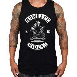 Black tank NOWHERE RIDERS for men | PROJECT X