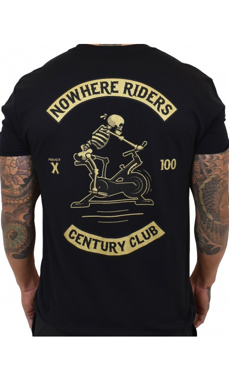 T-shirt black CENTURY CLUB NOWHERE RIDERS for men   PROJECT X