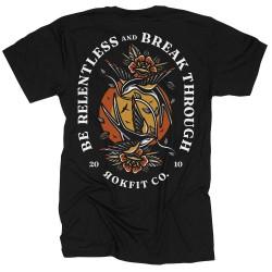 T-Shirt Man black BE RELENTLESS   ROKFIT