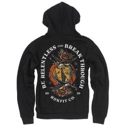 Zip hoodie black BE RELENTLESS | ROKFIT