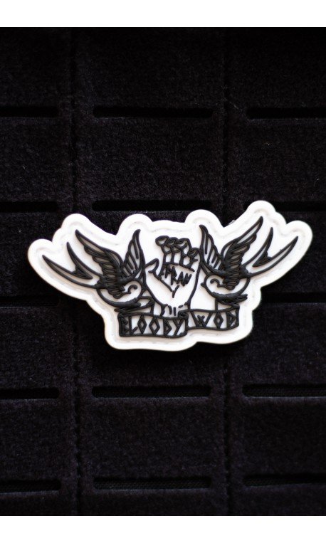 FRAN white 3D PVC velcro patch for athlete | VERY BAD WOD