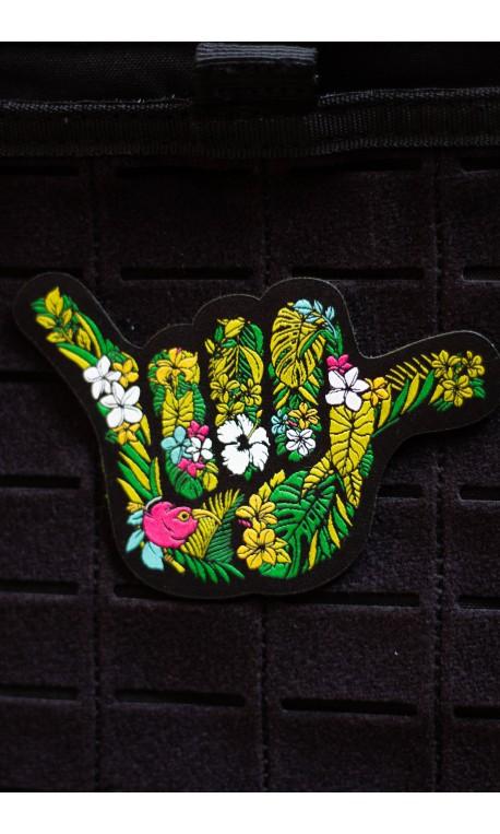 OHANA SHAKA flowers 3D PVC velcro patch for athlete | PROJECT X