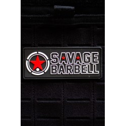SAVAGE BARBELL logo 3D PVC velcro patch for athlete | SAVAGE BARBELL