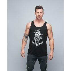Training tank black INK YOUR WOD for men   VERY BAD WOD x WILL LENNART TATOO