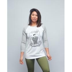 Baseball T-shirt unisexe gris FRENCH WOD  VERY BAD WOD x WILL LENNART TATOO