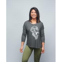 T-shirt manches 3/4 Femme gris GORILLA OPS   VERY BAD WOD x WILL LENNART TATOO