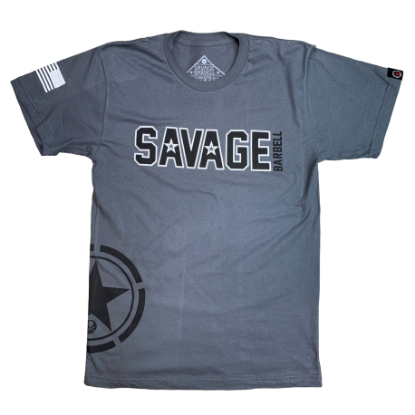 T-shirt grey Hip Star for men - SAVAGE BARBELL