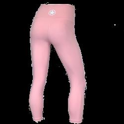 Legging femme mi-mollet rose clair HIGH WAIST   SAVAGE BARBELL