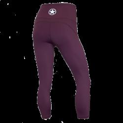 Legging femme mi-mollet violet HIGH WAIST   SAVAGE BARBELL