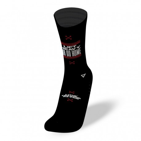 Black workout socks LIFT HEAVY | LITHE APPAREL