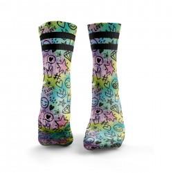 Multicolor workout 'I LOVE YOU' DOODLE socks – HEXXEE SOCKS