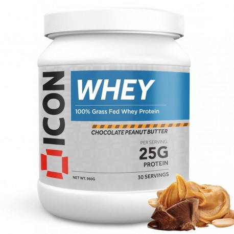 100 % Whey CHOCOLATE PEANUT BUTTER 960 Gr   ICON NUTRITION