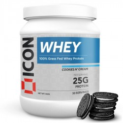 Whey Protéines COOKIES N' CREAM - 960 Gr   ICON NUTRITION