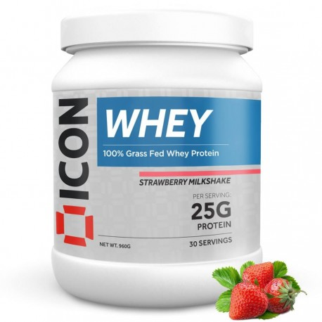 100 % Whey STRAWBERRY MILKSHAKE 960 Gr   ICON NUTRITION