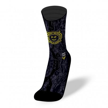 Black workout socks NO MORE BURPEES   LITHE APPAREL