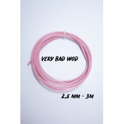 Pink cable 2.5 mm - 3 m   VERY BAD WOD