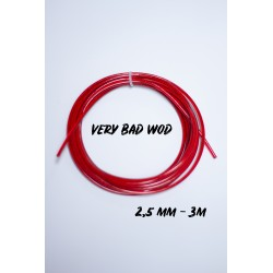Red cable 2.5 mm - 3 m   VERY BAD WOD