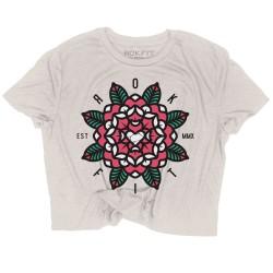 T-shirt femme Crop MANDALA   ROKFIT