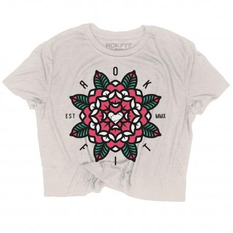 Training crop T-shirt MANDALA for women |ROKFIT
