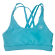 Training bra blue 4 STRAPS LOW CUT TEAL for women   SAVAGE BARBELL