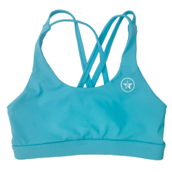 Brassière femme 4 STRAPS LOW CUT TEAL| SAVAGE BARBELL