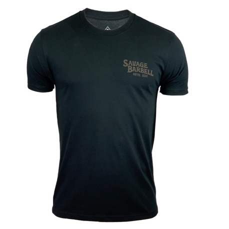 T-shirt black COBRA for men | SAVAGE BARBELL