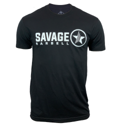 T-shirt black LOOK FEEL BE for men   SAVAGE BARBELL