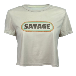 Training T-shirt nude RETRO CHICK for women - SAVAGE BARBELL