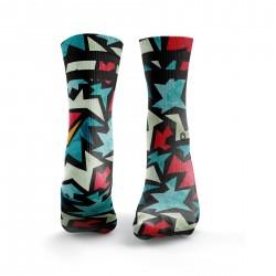 Chaussettes multicolores FIZZER 2STRIPE| HEXXEE SOCKS