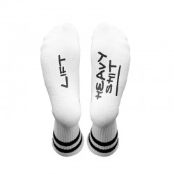 Chaussettes blanches LIFT HEAVY SH*T| HEXXEE SOCKS