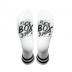 Chaussettes blanches F*CK BOX JUMPS| HEXXEE SOCKS