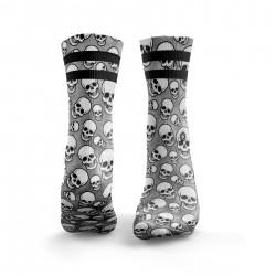 Grey workout VALLEY OF MEN 2STRIPE socks – HEXXEE SOCKS
