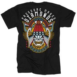 T-Shirt Homme noir PRESSURE MAKES DIAMONDS   ROKFIT