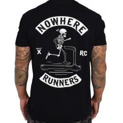 T-Shirt Homme noir NOWHERE RUNNERS   PROJECT X