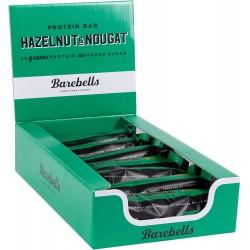 Pack of 12 Protein bars HAZELNUT & NOUGAT| BAREBELLS