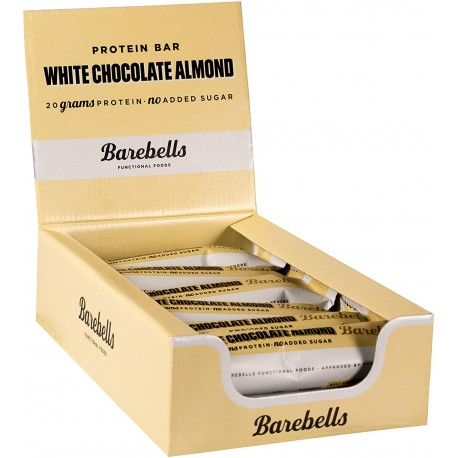 Pack of 12 Protein bars WHITE CHOCOLATE ALMOND| BAREBELLS