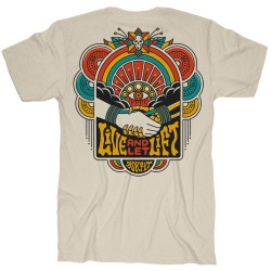T-Shirt Homme beige LIVE AND LET LIFT | ROKFIT