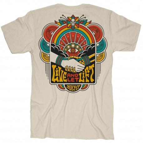 Men's beige T-Shirt LIVE AND LET LIFT   ROKFIT