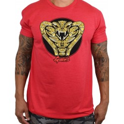 Training t-shirt red COBRA GAINS for men | PROJECT X